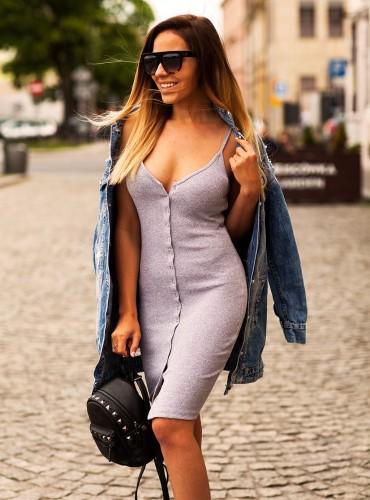 Sukienka z guzikami GREY