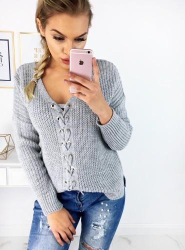 Sweterek MERIVA - szary
