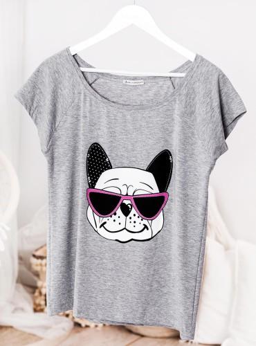 T-shirt BULLDOG - szary