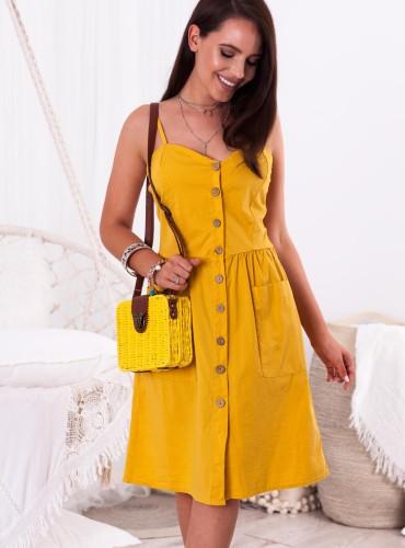Sukienka GOLDA - musztardowa