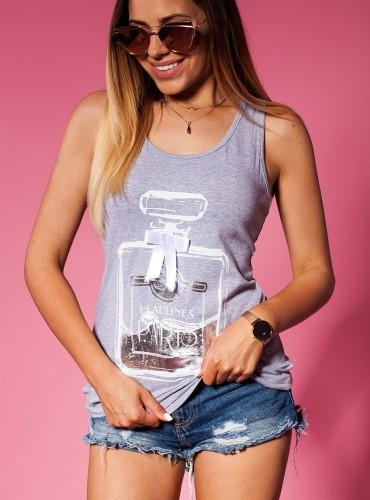 T-Shirt PERFUME SZARY