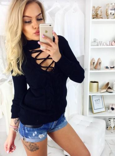 Sweterek Serena - czarny