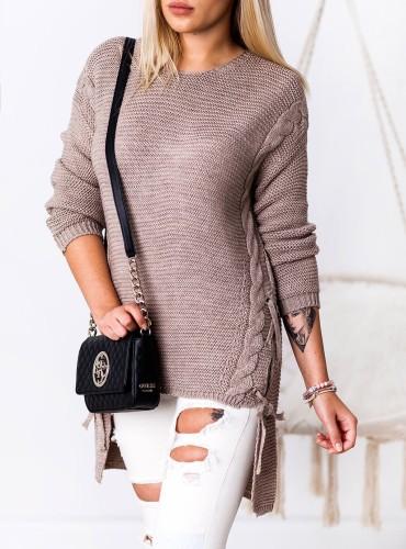 Długi sweterek NIKITA - cappuccino