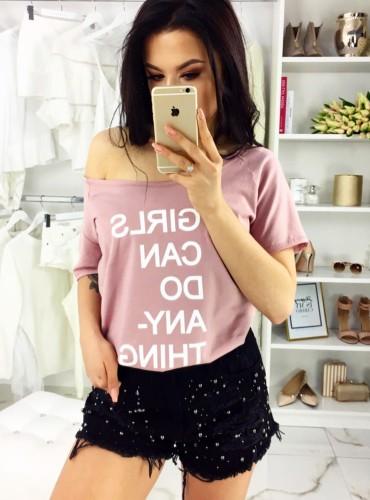 T-Shirt SUBTITLES BRUDNY RÓŻ