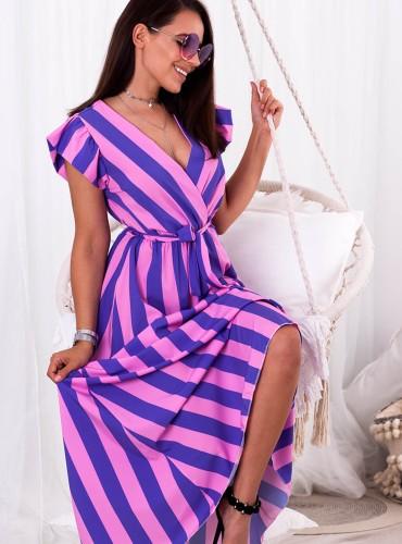 Sukienka LAVINA - fioletowo różowa