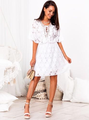 Sukienka BOHO DAMARIS - biała