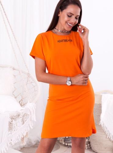 Sukienka HEARTBREAKER - pomarańczowa
