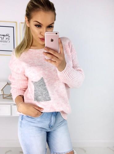 Sweterek Mercy - pudrowy róż