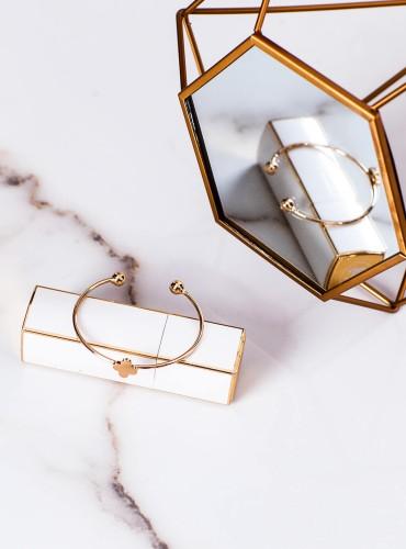 bransoletka koniczynka - gold