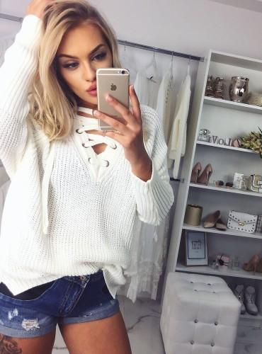 Sweter MEGAN - kremowy