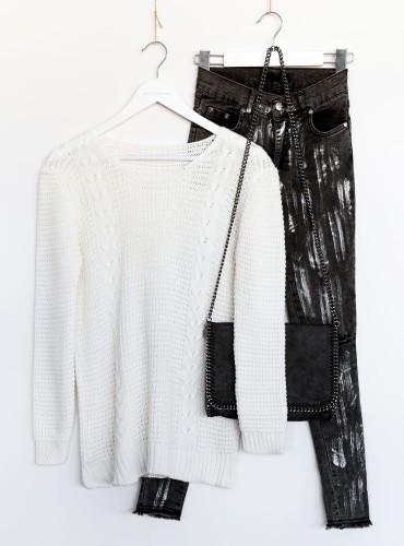 Sweterek ALIANA - kremowy