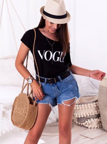 T-shirt VOGUE - czarny