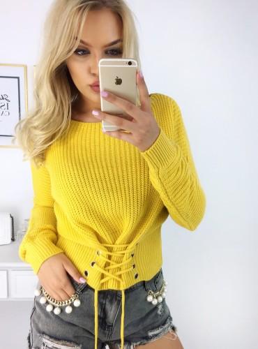 Sweterek Dayami - żółty
