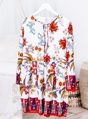 Sukienka SALVIA w czerwone kwiaty