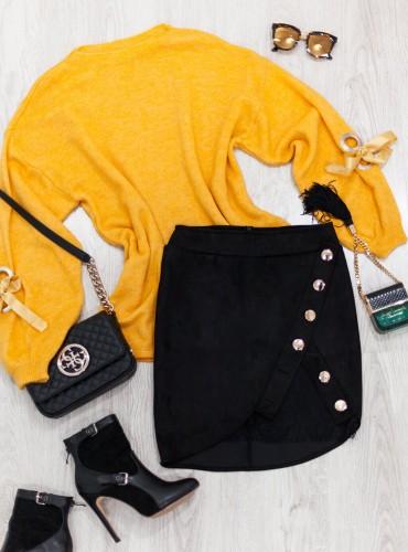 Sweterek ROSELIA - żółty