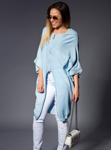 Sweter z zamkiem BABY BLUE