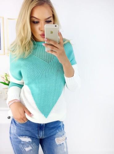 Sweterek SANDY - turkusowy