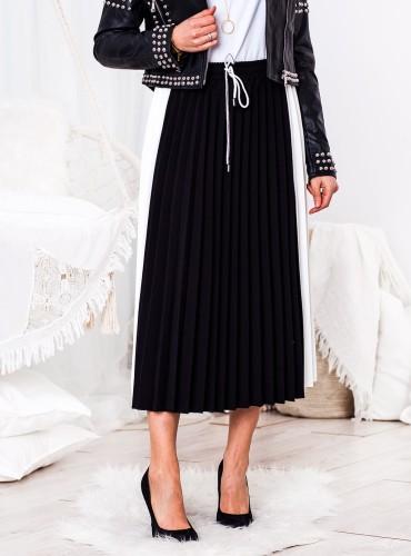 Plisowana spódnica SPORT - czarna