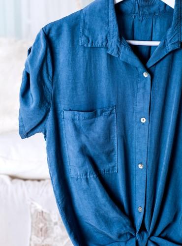 Koszula wiązana AMERICA - jasny jeans