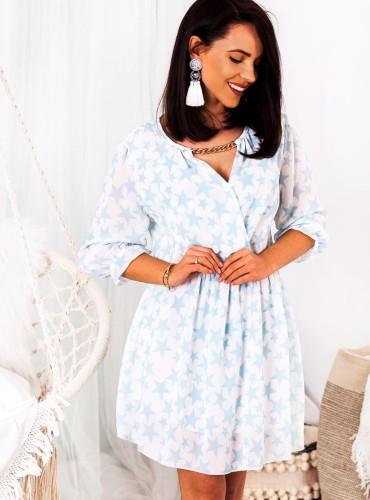Sukienka STARDUST - błękitna