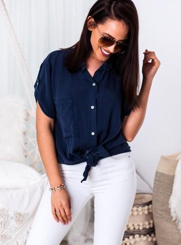 Koszula wiązana AMERICA - ciemny jeans