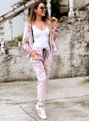 Spodnie SHINE - pudrowy róż