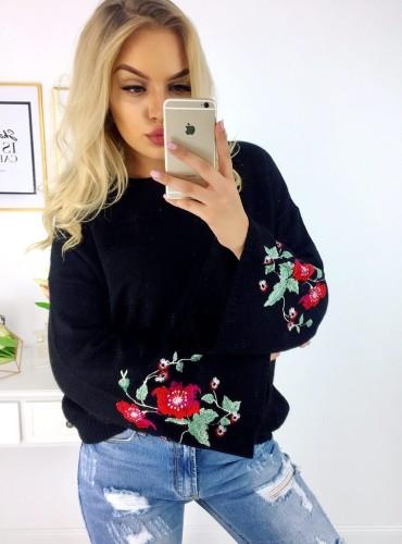 Sweterek Floresa - czarny