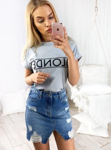 T-shirt BLONDE - szary