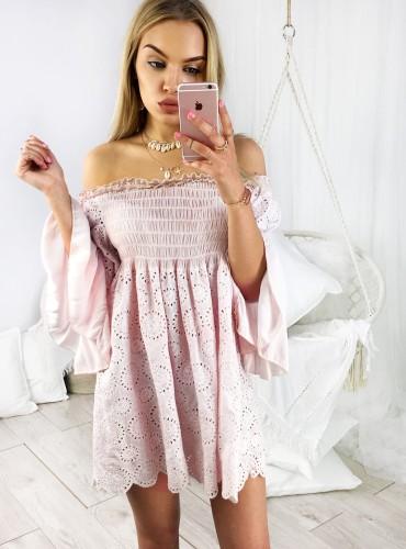 Sukienka BOHO CINDY - pudrowy róż
