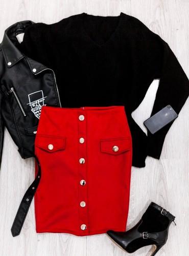 Spódniczka JANA - czerwona