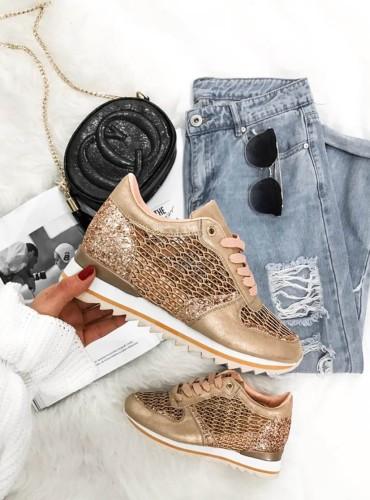 Sneakersy  Diamonds - szampańskie