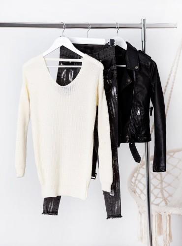Sweterek Audrey - kremowy