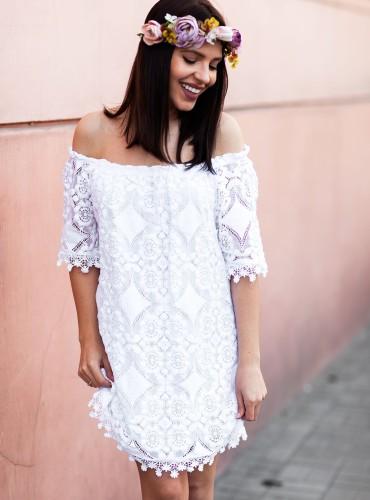 Sukienka LAURYN - biała