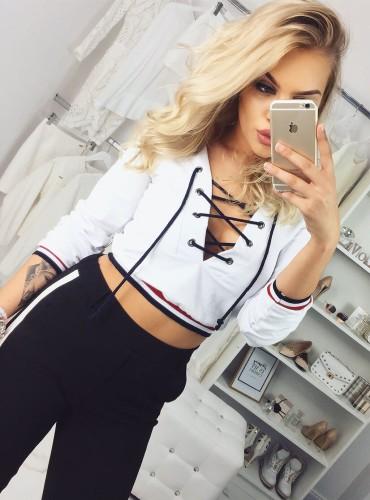 Bluza sznurowana - biała