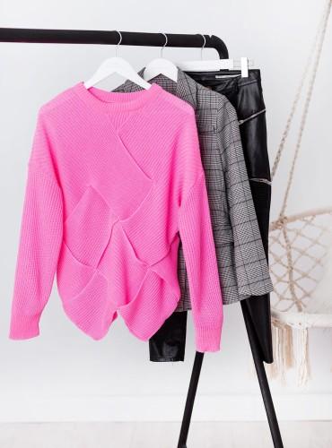 Sweterek YUKIA - NEONOWY RÓŻ