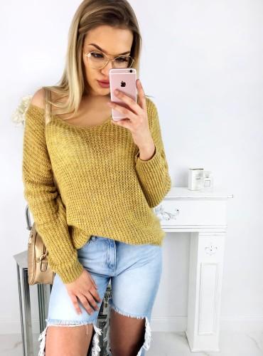Sweterek LIGHT - musztardowy