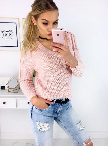 Sweterek JUVILA - pudrowy róż
