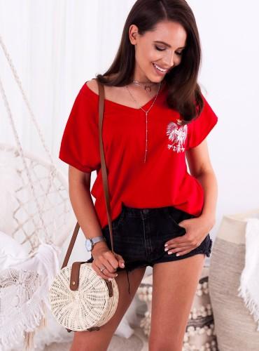 t-shirt EAGLE II - czerwony