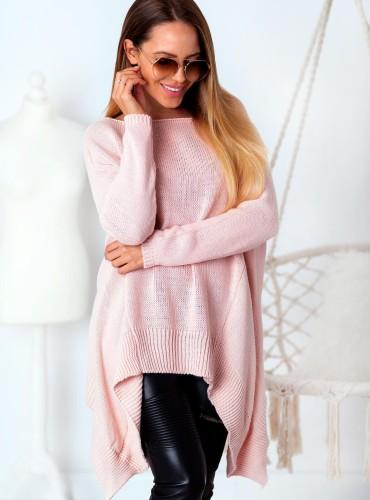 Sweterek MIKA - pudrowy róż