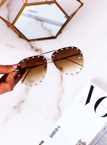 Okulary 16 - like LV brązowe