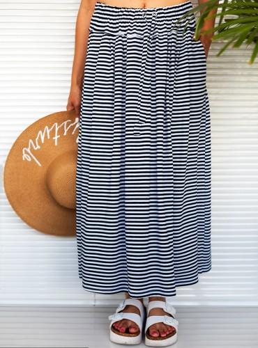 Spódnica długa w paski