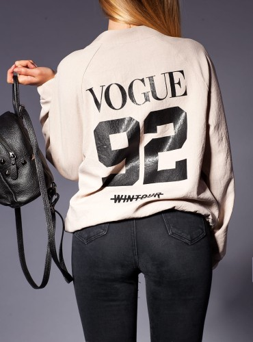 BOMBER VOGUE BEŻOWY