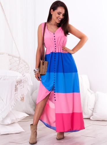 Sukienka ALICIA - różowo niebieska