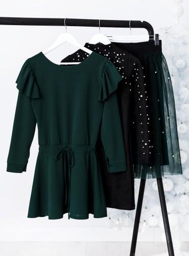 Sukienka DECEMBER - butelkowa zieleń