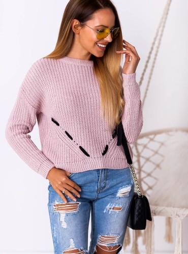 Sweterek CODA - pudrowy róż