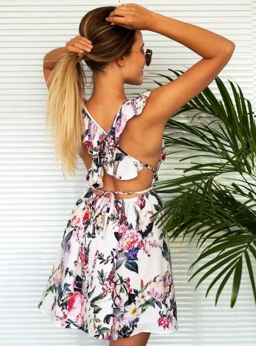 Sukienka ADELA FLOWERS MULTICOLOR