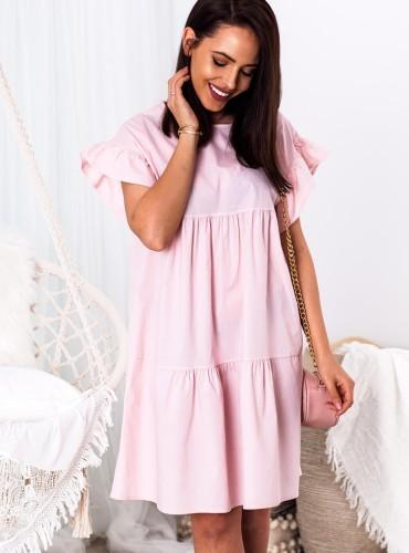 Sukienka BALI II - pudrowy róż