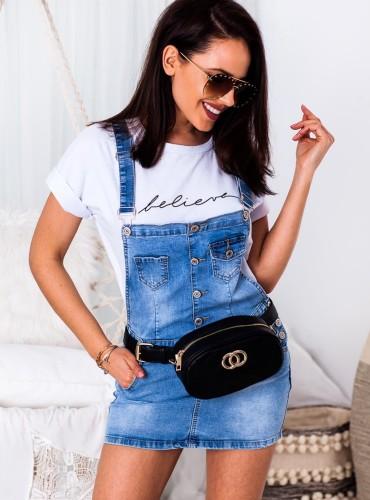 Spódniczka ogrodniczki - jeans