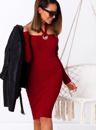 Sukienka PALOMA - bordowa