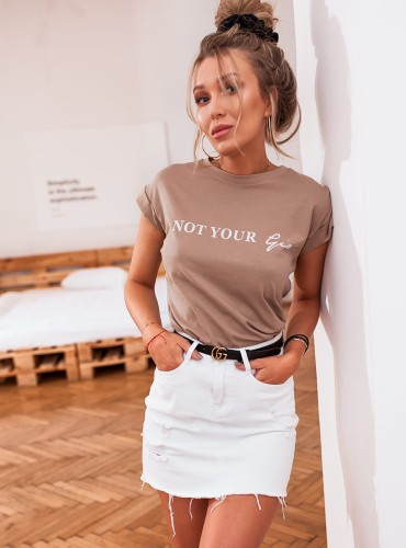 T-shirt YOUR GIRL - beżowy